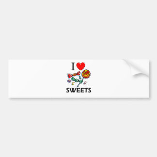 I Love Sweets Bumper Sticker