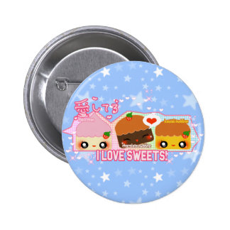I love sweets pinback buttons