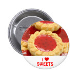 I Love Sweets Buttons