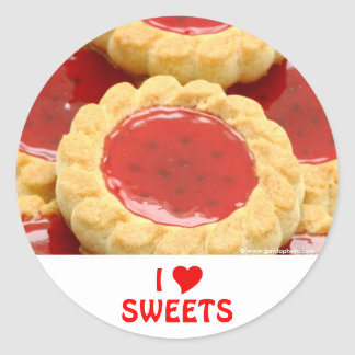 I Love Sweets Classic Round Sticker