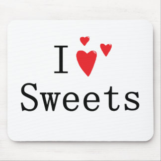 I Love Sweets Mouse Pad