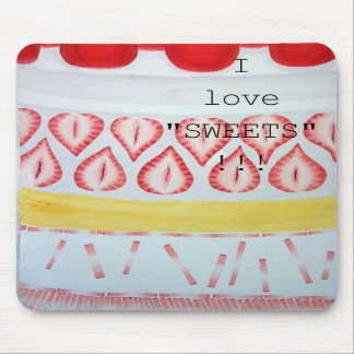 """I love """"SWEETS"""" mouse propellant-actuated device Mouse Pads"""