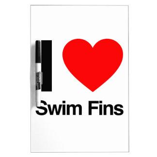 i love swim fins dry erase whiteboard