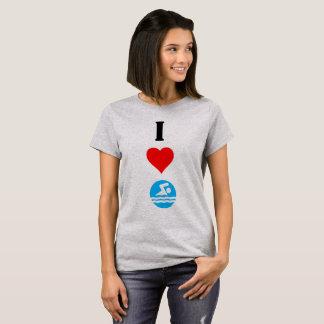 I Love Swim / I Heart Swim Cute Ladies T-shirt