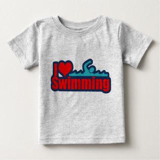 I Love Swimming Baby T-Shirt