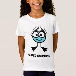 I Love Swimming - Blue Swim Character T-Shirt