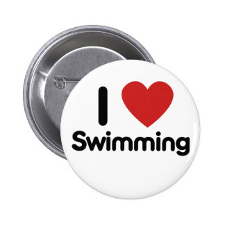 I love Swimming Button