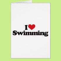 I Love Swimming Card