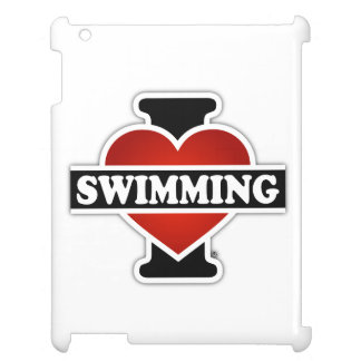 I Love Swimming Case For The iPad 2 3 4
