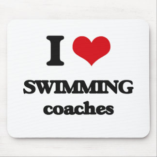 I love Swimming Coaches Mouse Pads