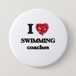 I love Swimming Coaches Pinback Button