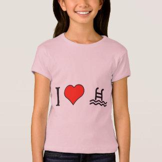 I Love Swimming In Morning T-Shirt