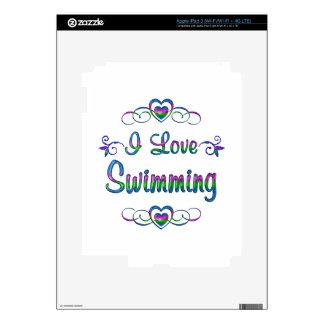 I Love Swimming iPad 3 Skin