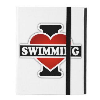 I Love Swimming iPad Cover