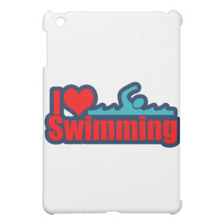 I Love Swimming iPad Mini Cover