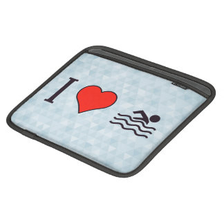 I Love Swimming iPad Sleeve