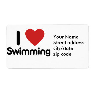 I love Swimming Label