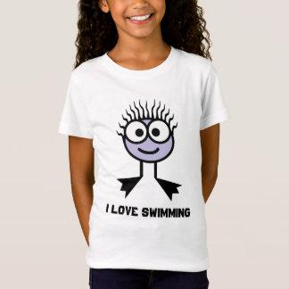 I Love Swimming - Lilac Swim Character T-Shirt