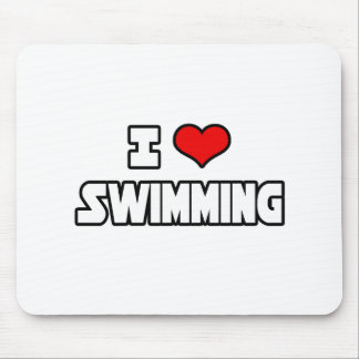 I Love Swimming Mouse Pad
