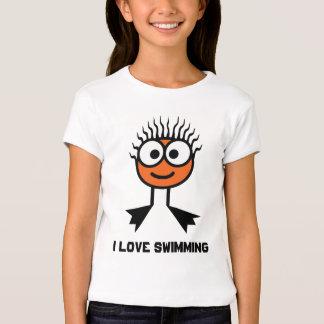 I Love Swimming - Orange Swim Character T-Shirt