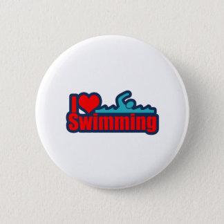 I Love Swimming Pinback Button