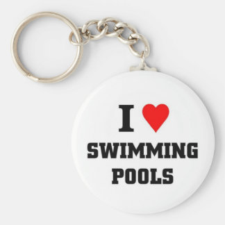 I love Swimming Pools Keychain