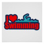 I Love Swimming Print