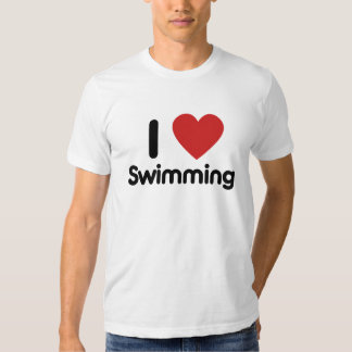 I love Swimming T Shirt