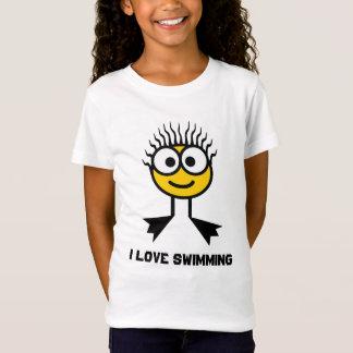 I Love Swimming - Yellow Swim Character T-Shirt