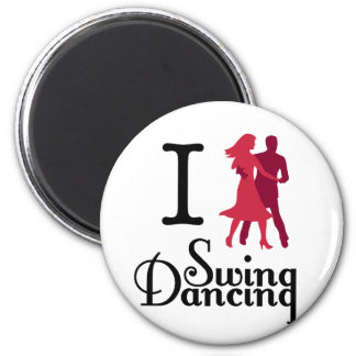 I Love Swing Dancing 2 Inch Round Magnet