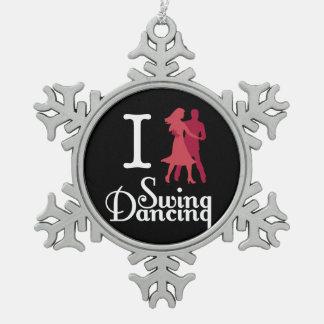 I Love Swing Dancing Ornaments