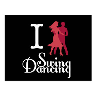 I Love Swing Dancing Postcard