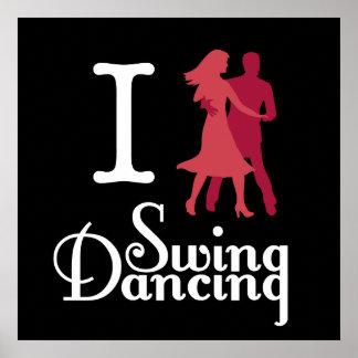 I Love Swing Dancing Poster