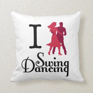 I Love Swing Dancing Throw Pillow