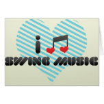 I Love Swing Music Cards