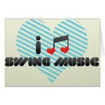 I Love Swing Music Cards