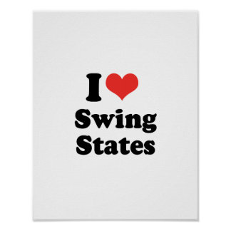 I LOVE SWING STATES - .png Poster