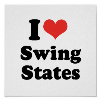 I LOVE SWING STATES - .png Posters