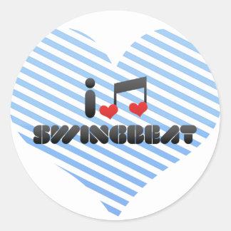 I Love Swingbeat Stickers