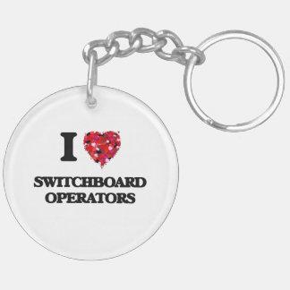 I love Switchboard Operators Double-Sided Round Acrylic Keychain