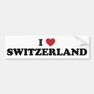 I Love Switzerland Bumper Sticker