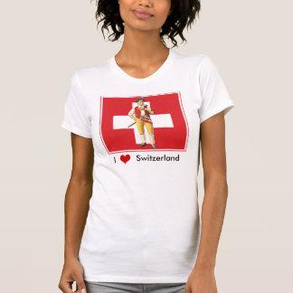 I Love Switzerland - Colorful Ethno Swiss T-Shirt