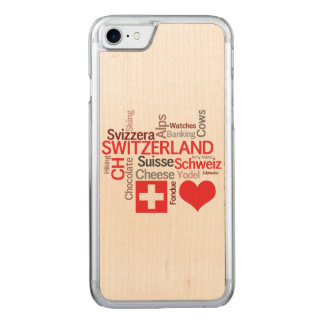 I Love Switzerland - Favorite Swiss Things Carved iPhone 8/7 Case