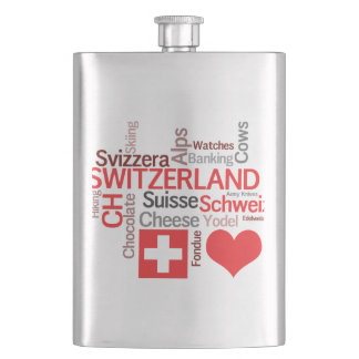 I Love Switzerland - Favorite Swiss Things Flask
