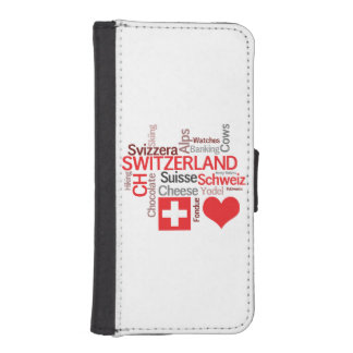 I Love Switzerland - Favorite Swiss Things iPhone SE/5/5s Wallet Case