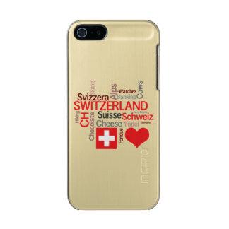 I Love Switzerland - Favorite Swiss Things Metallic Phone Case For iPhone SE/5/5s