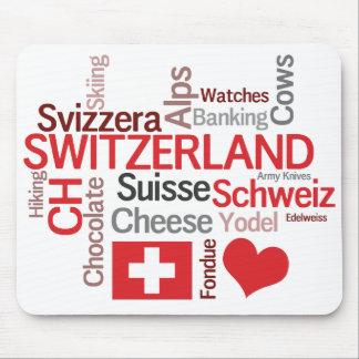 I Love Switzerland Favorite Swiss Things Mousepads