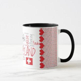 I Love Switzerland Favorite Swiss Things Mug