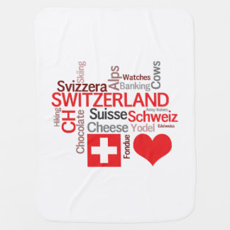 I Love Switzerland - Favorite Swiss Things Receiving Blanket
