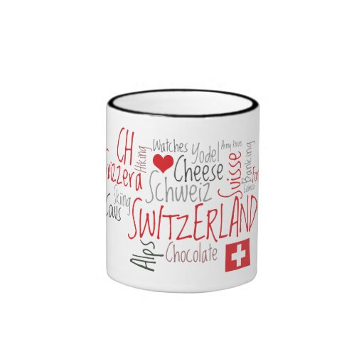 I Love Switzerland Favorite Swiss Things Ringer Mug